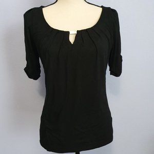 White House Black Market Black Blouse Size XS
